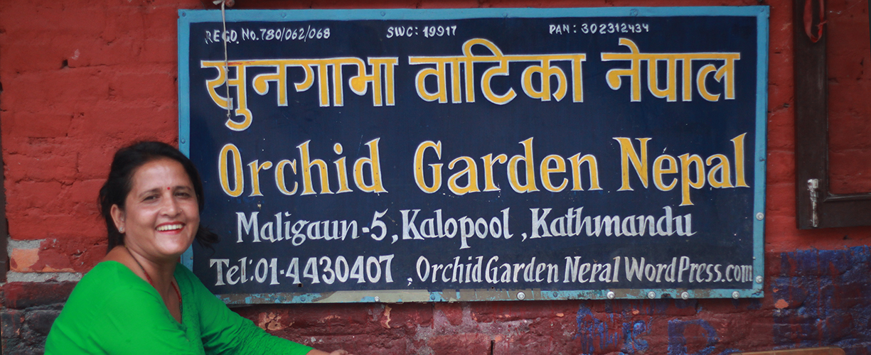 Orchid Garden Nepal with Bina